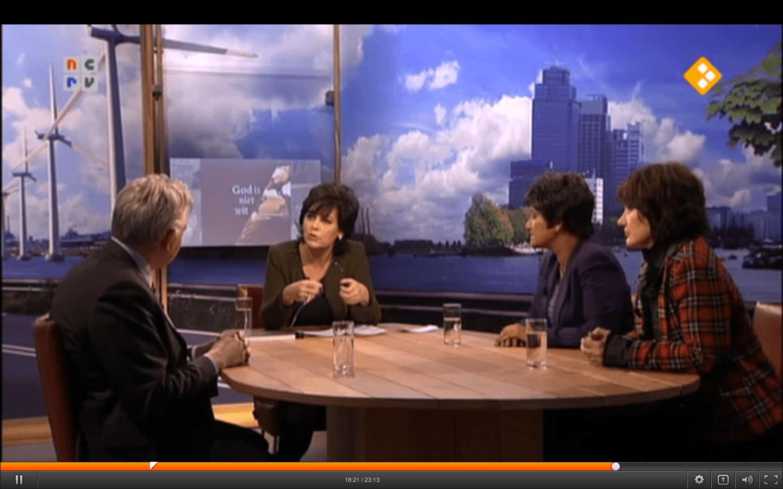 Op TV; bij Schepper & Co (NCRV) aan tafel